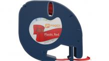 Foogy Plastik Şerit Etiket Kırmızı 12 mm x 4 mt
