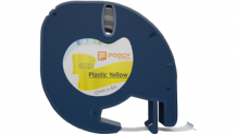 Foogy Plastik Şerit Etiket Sarı 12 mm x 4 mt